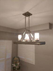 Kichler 3 light rustic pendant chandelier