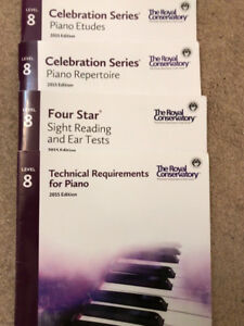 Royal Conservatory of Music (RCM) - Level 8 Piano Exam Books