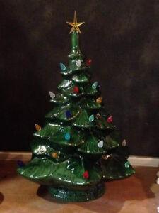 Lit Ceramic Christmas Tree