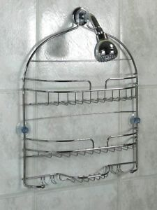 R & K Design Large Chrome Shower Caddy