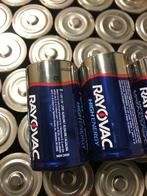 D Cell Batteries 50 Rayovac
