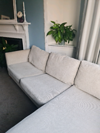 L shaped Next Sofa bed and storage - Free