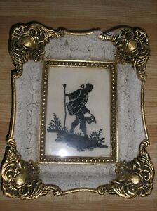 cadre/needlepoint silhouette wall hanging