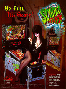 WANTED  pinball high speed pinball and elvira scared stiff