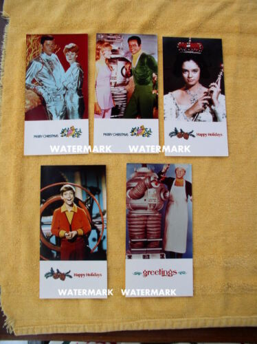 "Lost In Space Cast PHOTO Cards Christmas Xmas 3 1/2"" x 6 7/8"""