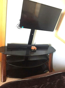Tv stand with TV mounting bracket