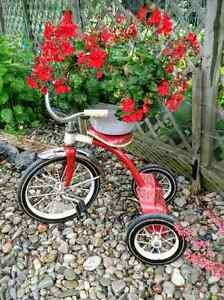 Vintage steel tricycle, garden planter, bike