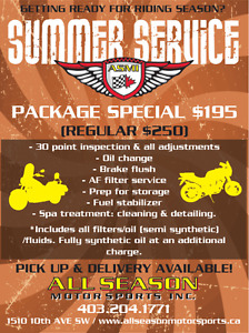 MOTORCYCLE SERVICE - $195 SPECIAL!!