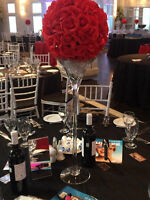 12 inch RED ROSE CENTERPIECE BALL
