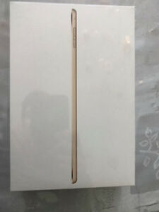 Ipad Mini 4 Gold 128 GB. Brand new, sealed, never opened or used