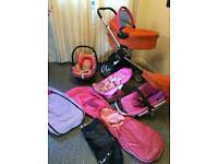 Quinny Buzz 3, travel set. Parm/Pushchair/Maxi cosi car seat & asscessories. Ex Condition.