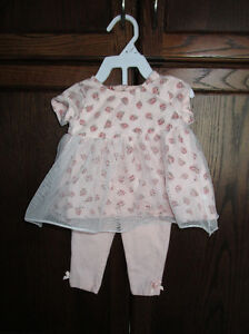 Girls 2pc pink outfit from Guess in size 3/6months