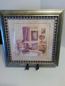 "C WINTERLE OLSON ""ROMANTIC BATH I SIGNED FRAMED MATTED"