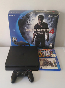 Ps4 slim 500gb, manette, 2 jeux
