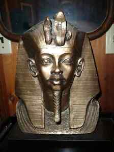 EGYPTIAN DECO RAMESSES PHAROAH BUST STATUE North Shore Greater Vancouver Area image 1