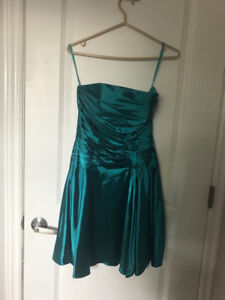 Beautiful teal bridesmaid dress