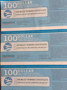 Airmiles Travel Certificates