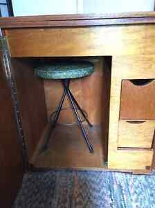 Antique Sewing Desk with stool
