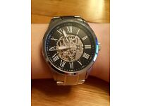 Fossil Mechanic Watch (black & silver)