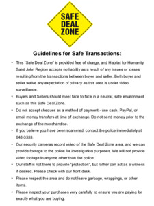 Safe Deal Zone - free, neutral location for your Kijiji deals!