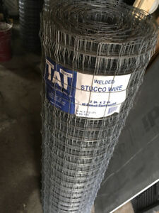 Stucco wire, 2x2 mesh mortar bed reinforcement
