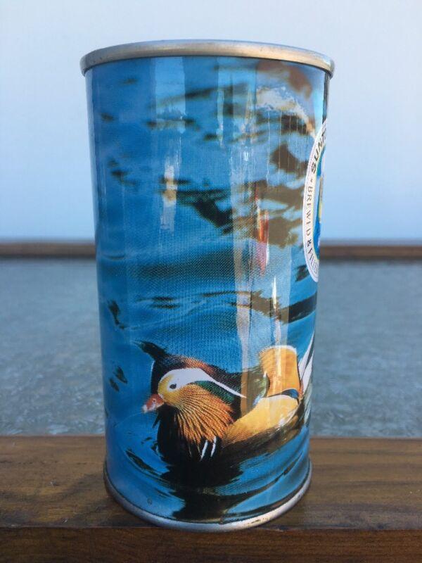Suntory Straight Steel Beer Can Bottom Opened Bird Series Japan HTF W/Sticker