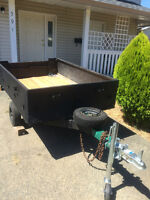 REDUCED.Great Older Utility Trailer For Sale. Papered and Plated