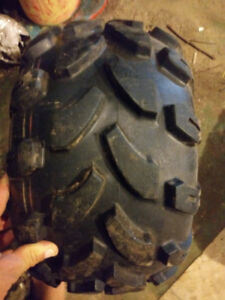 set of rear tires for a kids atv