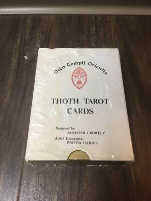 Ultra Rare 1969 Thoth Tarot Cards 78 + 1 Llewelyn Usa In Plastic