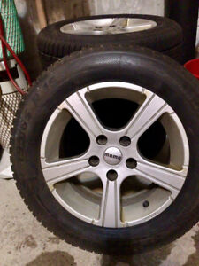 WINTER TIRES AND MAGS 195/65 R15