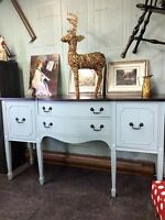 ANTIQUE REFINISHED BUFFET SIDEBOARD - now $324!
