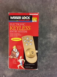 Weiser Powerbolt 1000 - key pad lock set