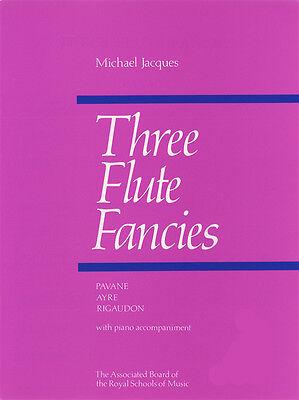 Three Flute Fancies ABRSM Sheet Music Book by Michael Jacques