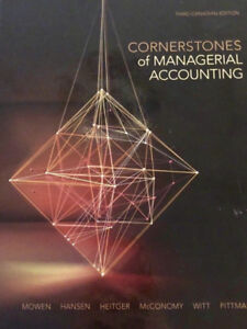 ACC406 Cornerstones of Managerial Accounting Textbook