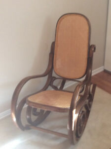 Vintage Bentwood cane back and seat rocking chair $45.00