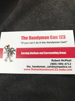 """""""The Handyman can123""""call today for your free quote-9059954712"""