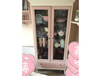 Shabby chic french style display cabinet dresser