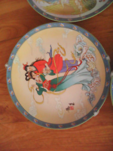 Vintage Collectible Chinese Art Plates Limited Edition