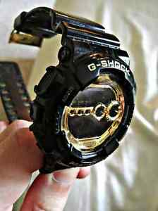 Casio G-Shock Black and Gold Light Up Gd100Gb-1