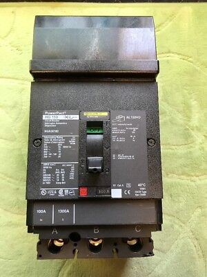 New No Box Square D 100 Amp 3 Pole I-line Circuit Breaker Hga36100 Powerpact