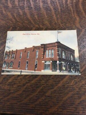 Vintage Post Office Mexico Mo Missouri 1909  Postcard