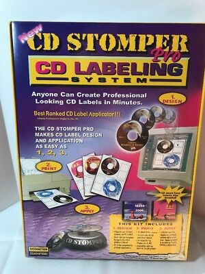 Cd Stomper Pro Cd Labeling System New Sealed