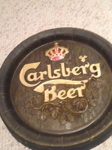 Faux Wood Carlsberg beer sign plaque Gatineau Ottawa / Gatineau Area image 2