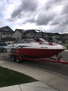 2012 reinell 220lse 22ft wake board boat