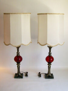 Paire de Lampes Vintage en Laiton - Vintage Pair of Brass Lamps