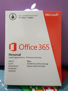 Microsoft Office 365 Personal For 1 PC or Mac (1 Year )