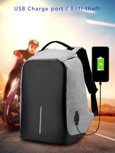 Backpack USB Charge Anti Theft school bag laptop 15 inch bags