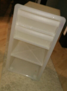 Plastic IKEA storage cart with 2 drawers