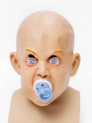 Baby Maske + Schnuller, Halloween Kostüm Gummi Horror - Halloween Baby Maske