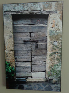 Old door from Italy - plaque-mounted photo